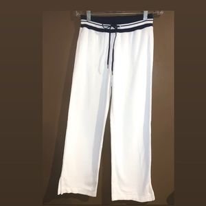 Armani exchange white terry cloth short pants